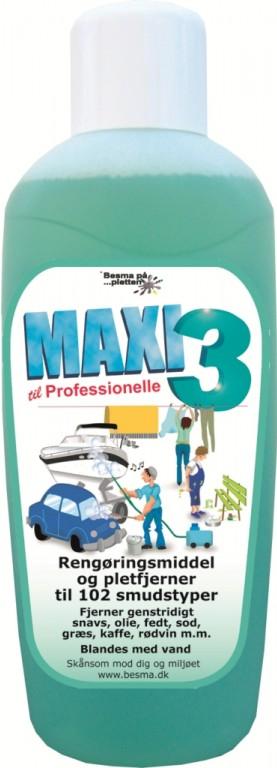 MAXI 3 Rensevæske - 1 Liter
