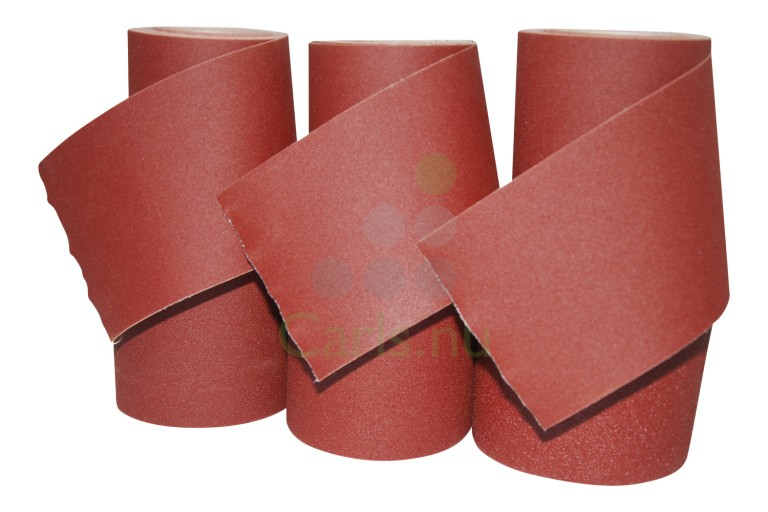Slipeduk slipepapir i ruller 100mm x 10 meter - Blandet pakke