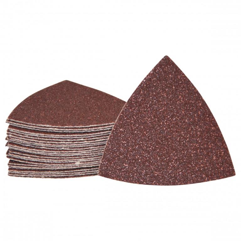 Sandpapir til trekantsliber 80x80x80mm - 25 stk slibeark
