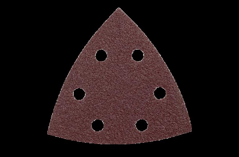 Sandpapir til trekantsliber 90x90x90mm 6 huller - 25 stk/pk