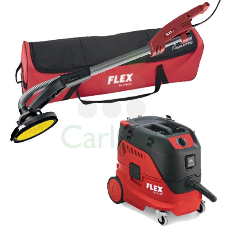 Flex GE5R girafsliber inkl. taske og VCE 33L AC støvsuger sæt