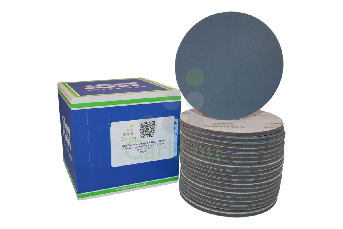 150 mm Useit Superfinishing Pad SG3 - 20 stk - K360-4000