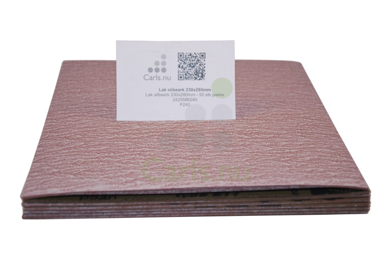 Lak slibepapir 230x280mm i ark - 50 stk/pakke