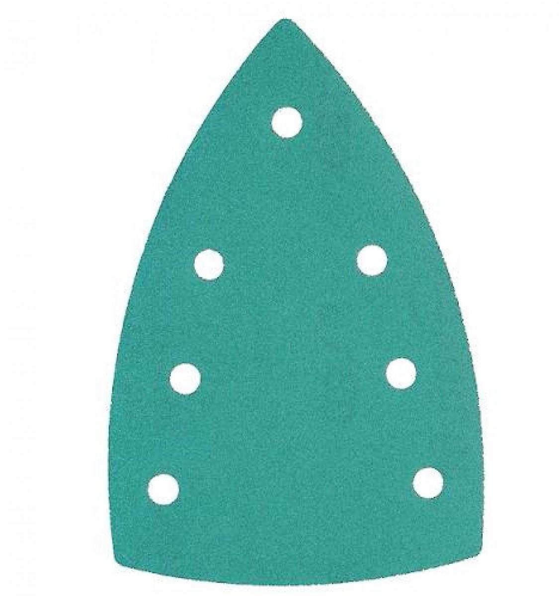 Sandpapir til trekantsliber 100x150mm 7 huller - 25 stk