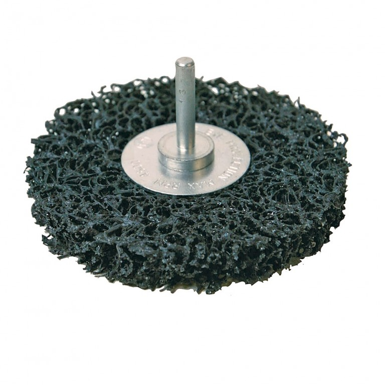 Grovslibe rondel med spindel 100mm Sort