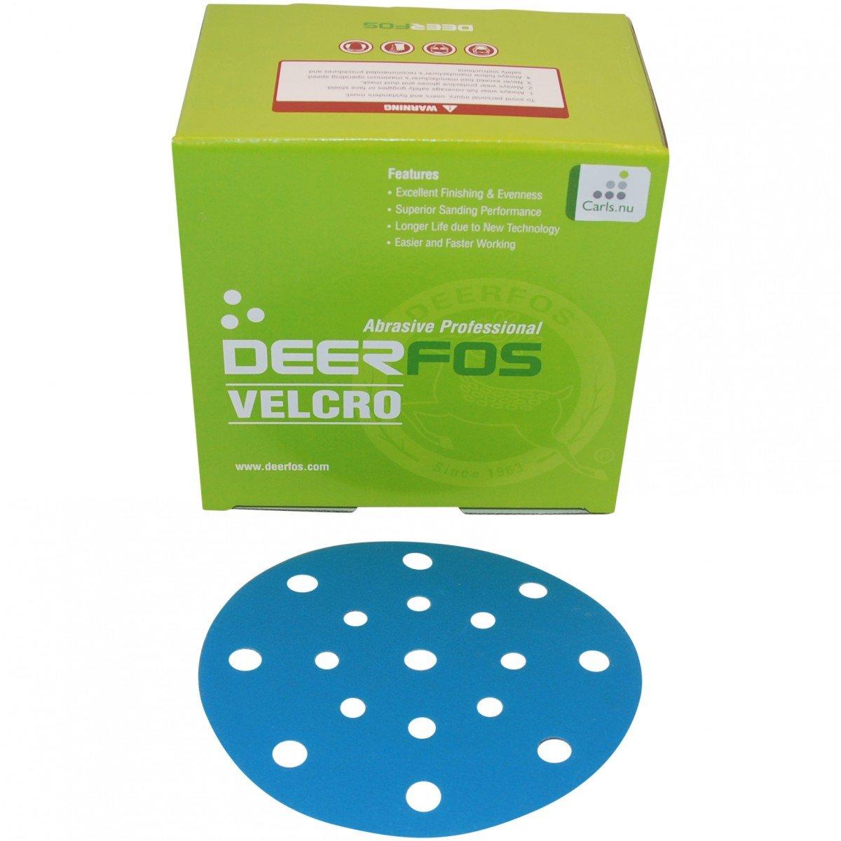 ø150 mm borrelås slipeskive med 17 hull for Festool slipemaskin