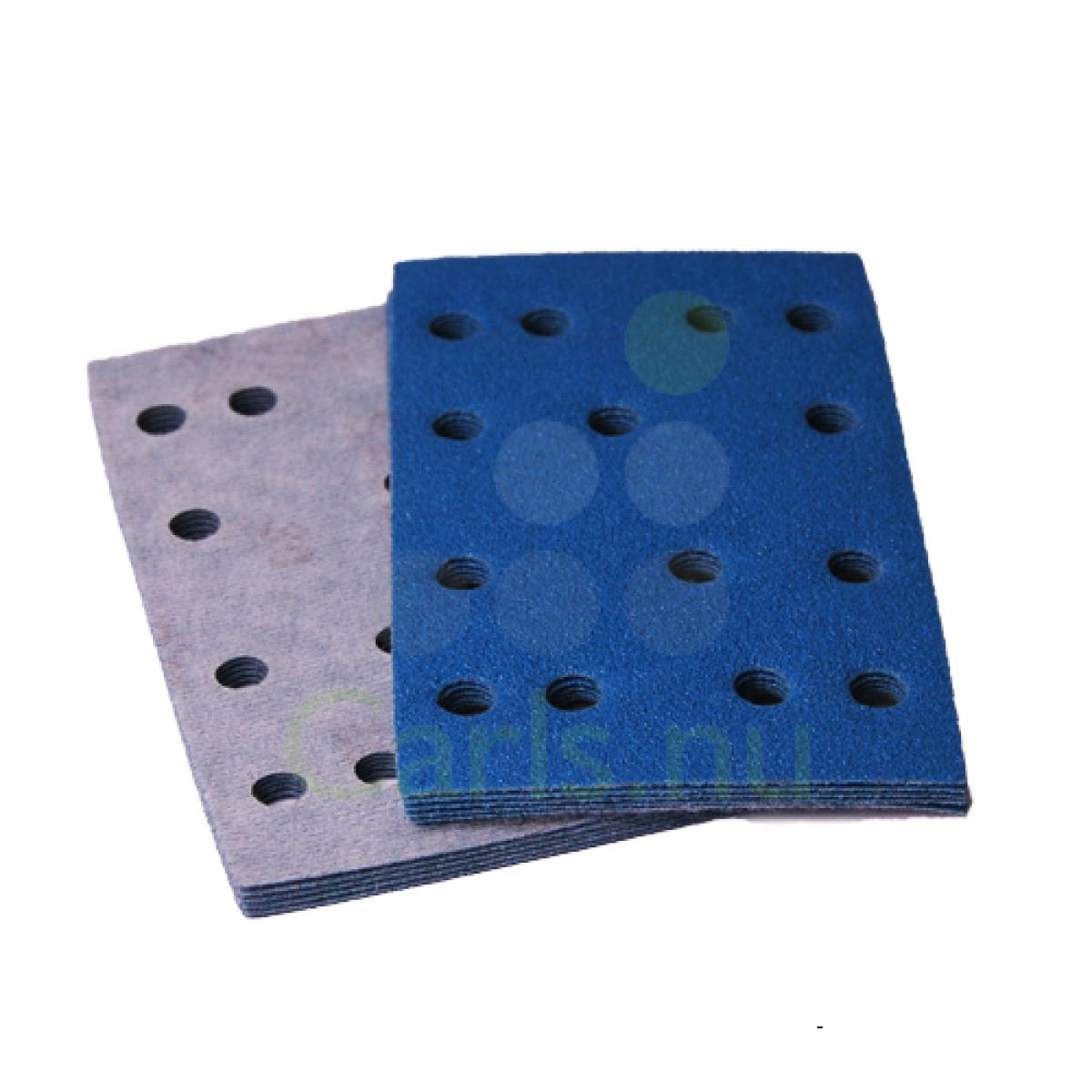 Sandpapir til rystepudser 80x133mm med velcro - 25 stk/pakke