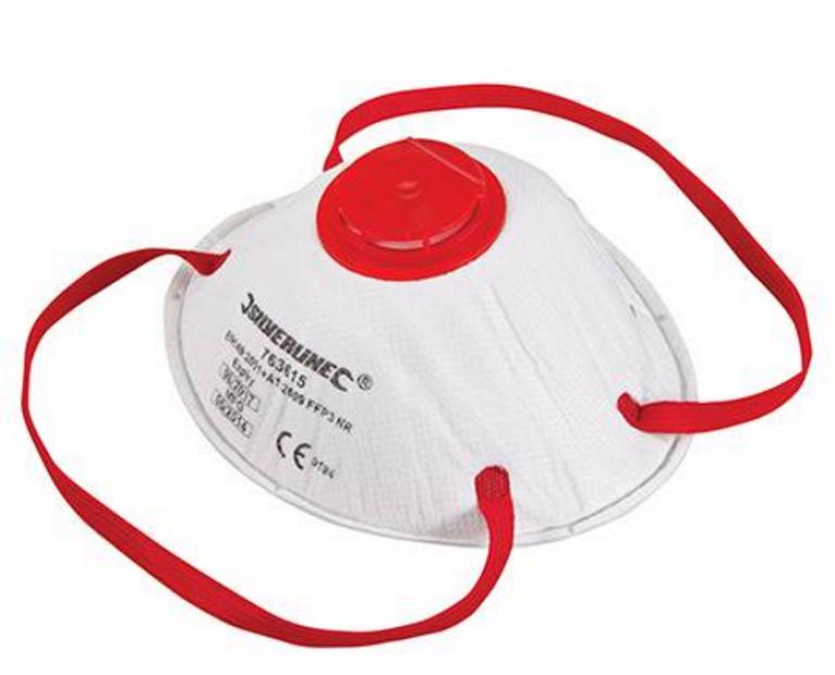 2 stk. Støvmasker FFP3 m/ventil
