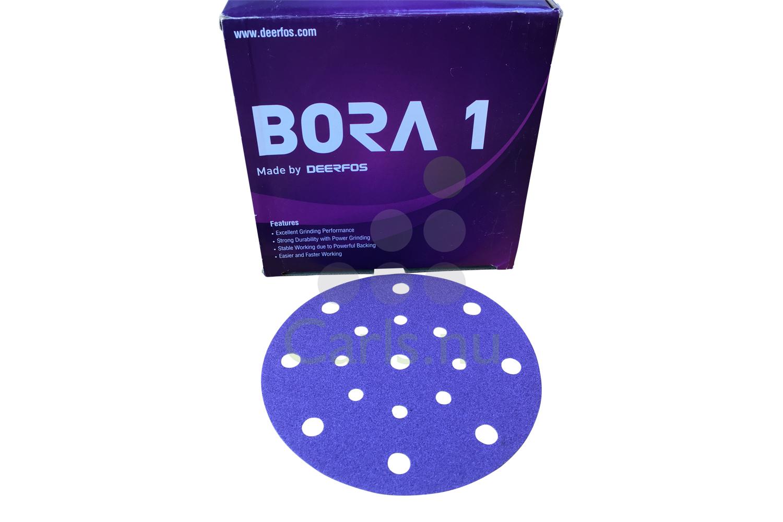 Image of   150mm Bora 1 keramiske sliberondeller med velcro - 17 hul til Festool - 100 stk Korn P100