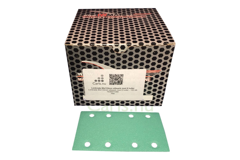 80x133mm Velcro 8 hul