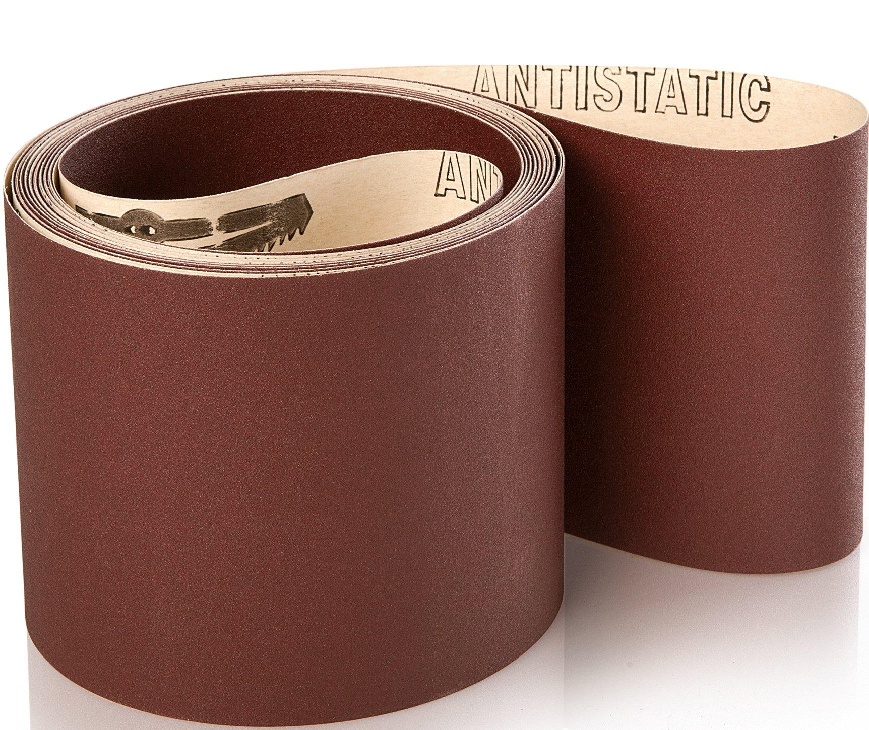10 stk. Industri slibebånd på papir 150x5400mm K40-800