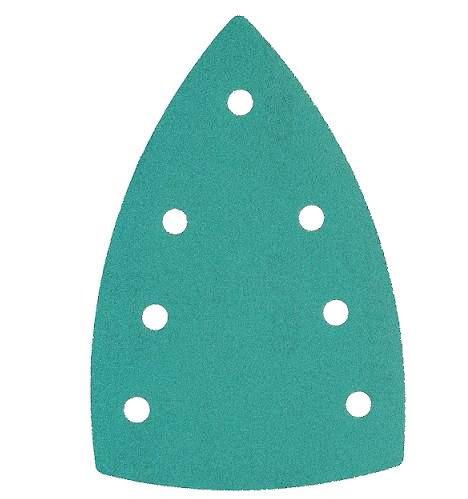 Image of   Sandpapir til trekantsliber 100x150mm 7 huller - 25 stk Korn P120