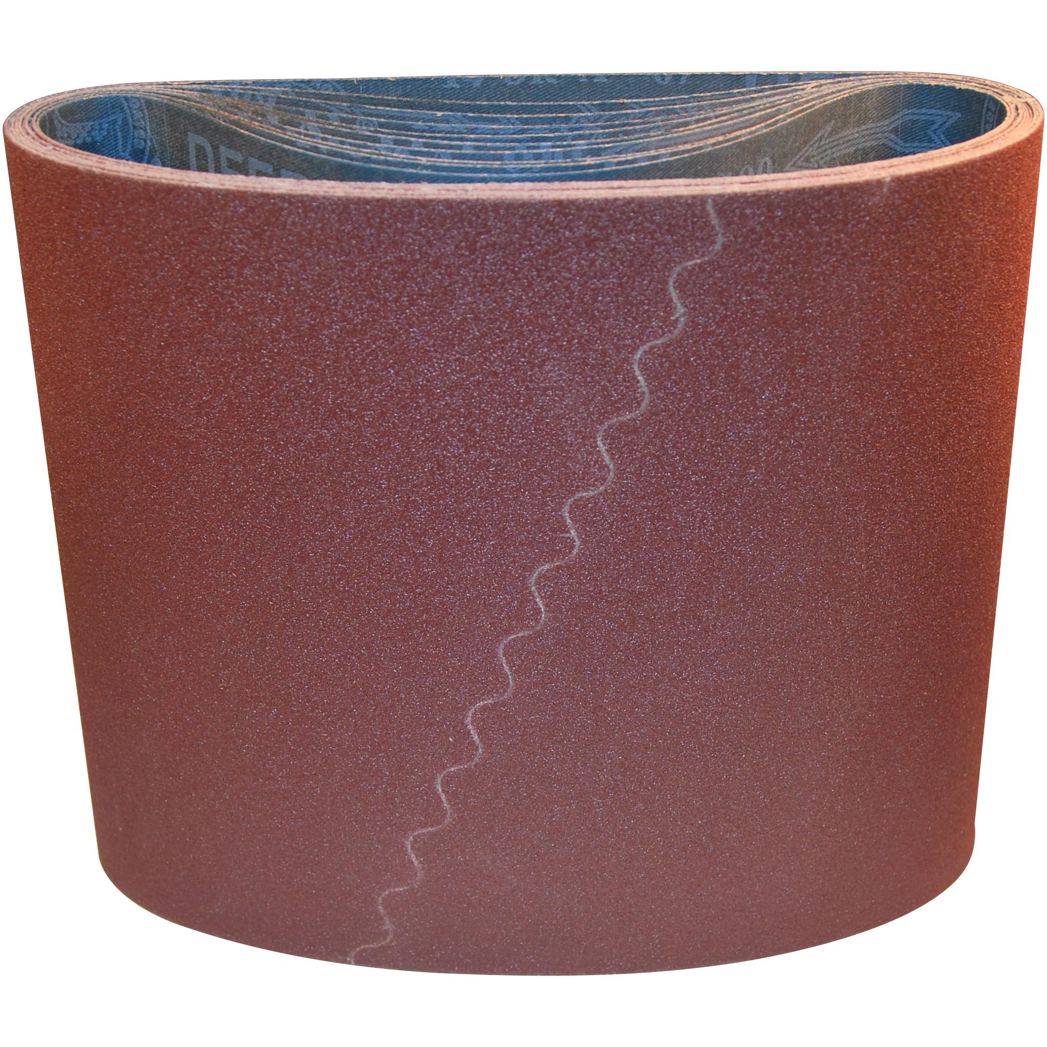 250x750mm Gulvslibebånd aluminium oxid - Rød